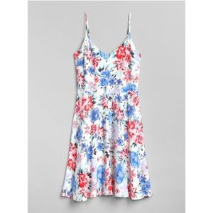 Gap Floral Fit and Flare Cami Dress 223838 Petite